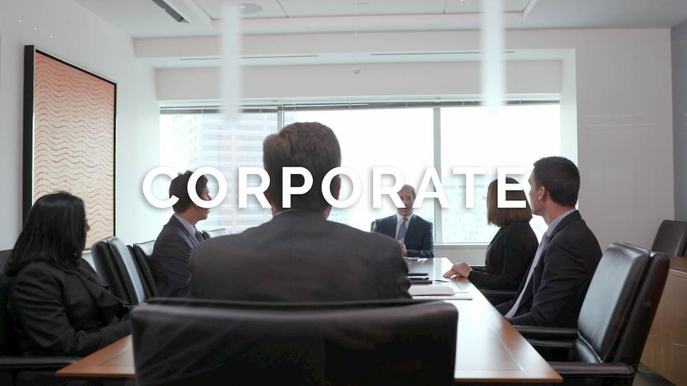 Corporate setting