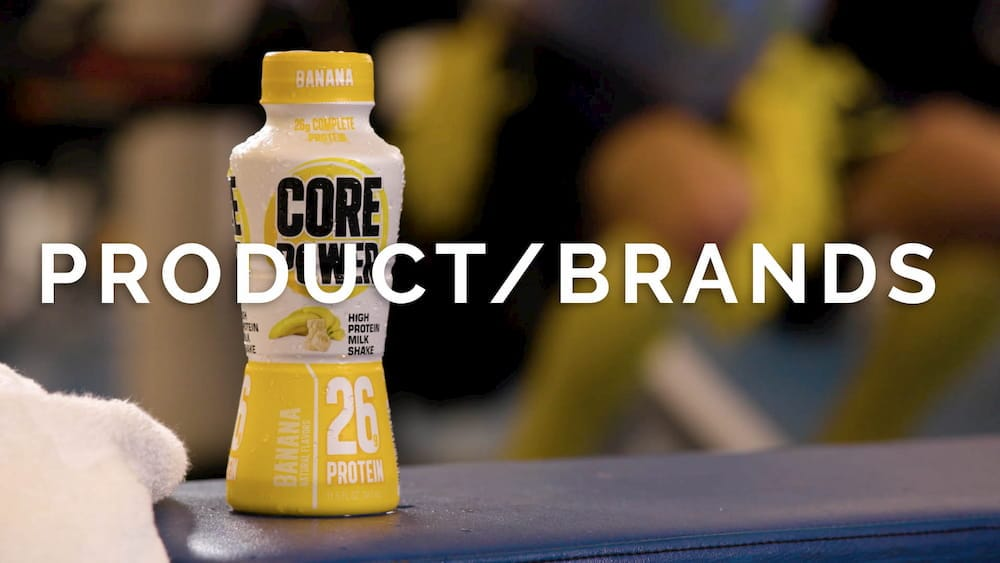 Banana flavored Core Power athletic beverage